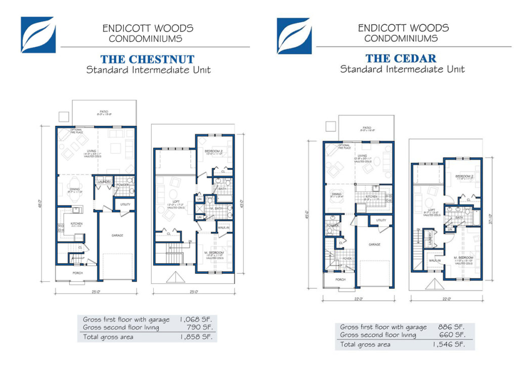 Endicott Woods Floor Plans