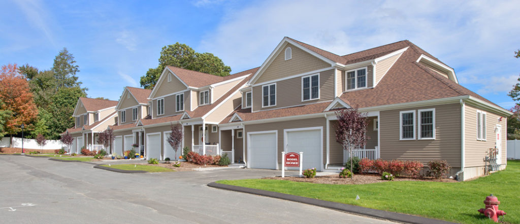 Exterior Photograph of Endicott Woods Townhouses in Norwood MA