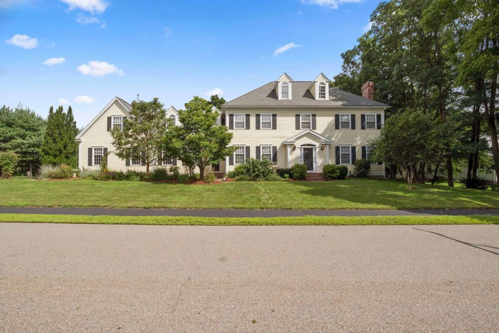 Front Exterior Photograph of 17 Kilronan Road in Westwood MA