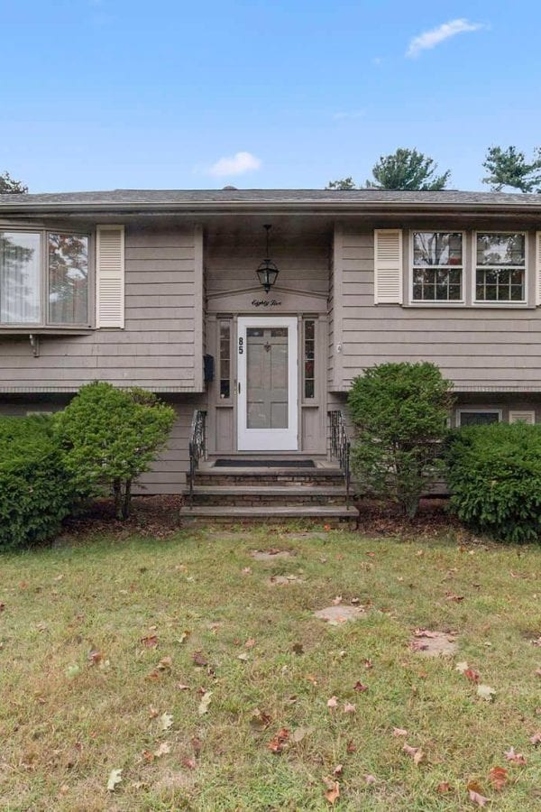 Front Exterior View of 85 Forbes Road in Westwood MA