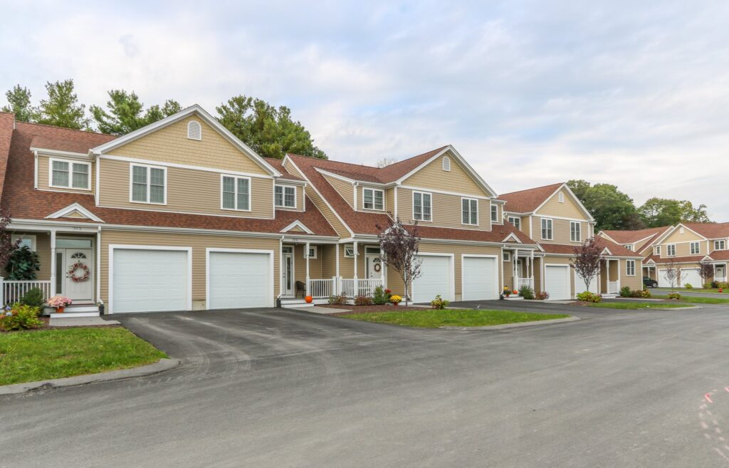 Exterior Photograph of Townhomes at Endicott Woods in Norwood MA