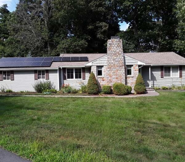 Exterior Photograph of 48 Booth Road, Dedham MA